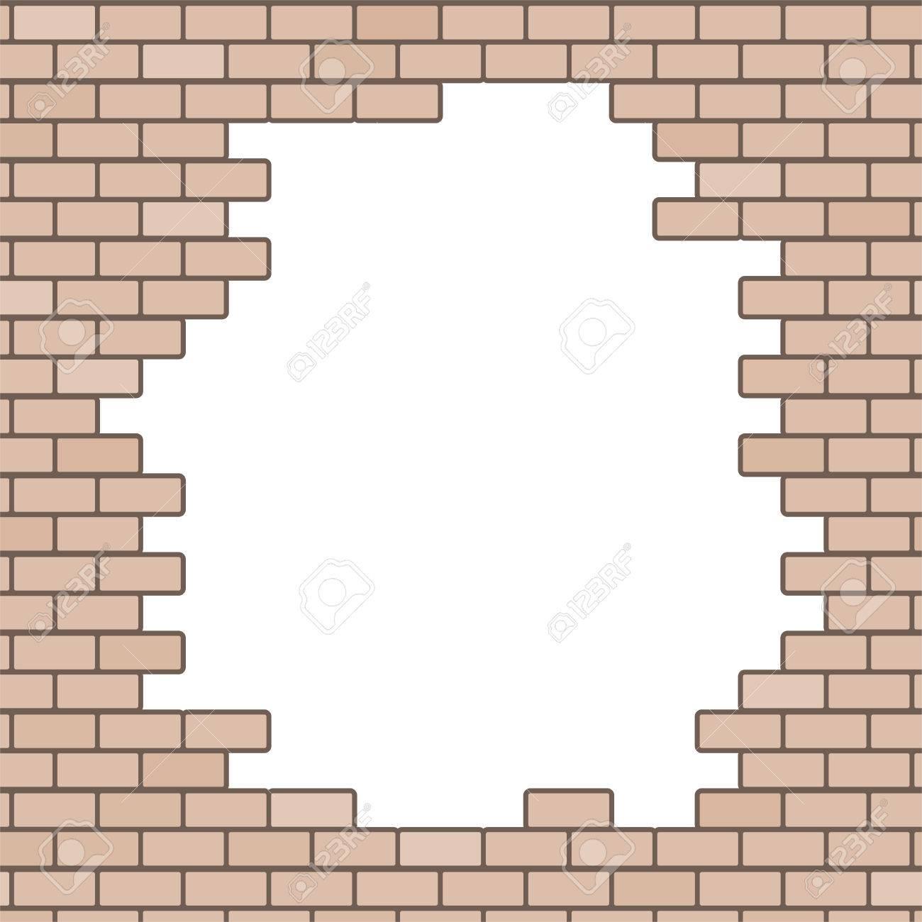 broken brick wall background.