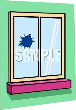 Broken window clipart.