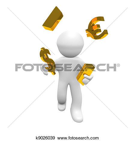 Stock Illustration of Finance broker k9026039.