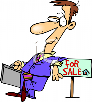 Real estate broker clipart.