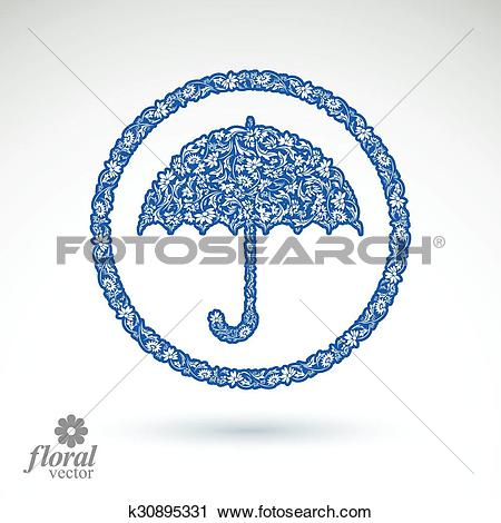 Clipart of Beautiful flower.