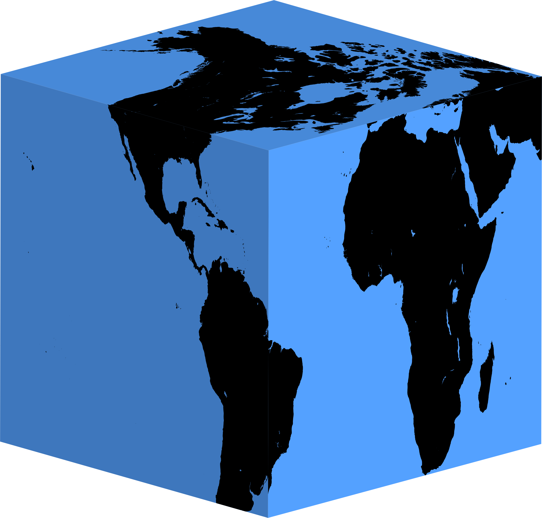 Clipart Cube Earth Silhouette.