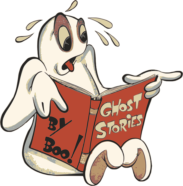 Free photo Reading Halloween Cartoon Ghost Boo Phantom.