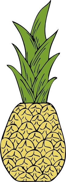 Pineapple clip art Free vector in Open office drawing svg ( .svg.