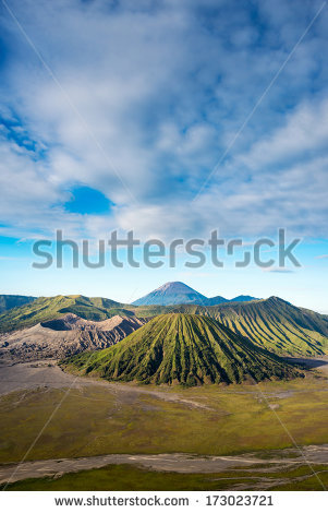 Vector Images, Illustrations and Cliparts: Mount Bromo volcanoes.