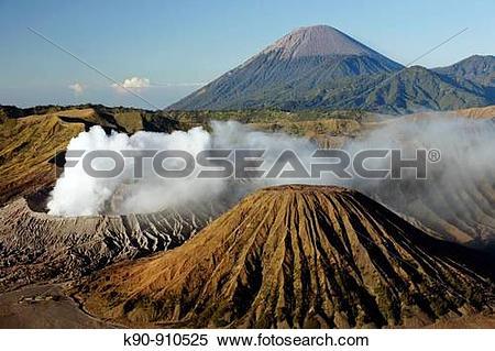 Stock Image of Mount Bromo vulcano at sunrise, Bromo Tengger.
