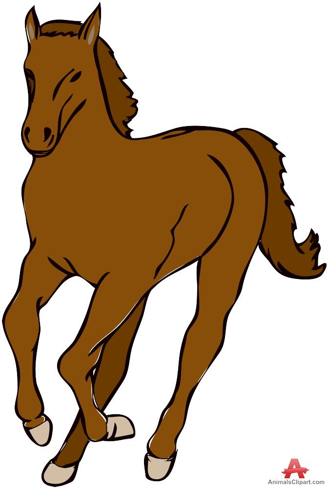 Wild Running Horse Clipart.