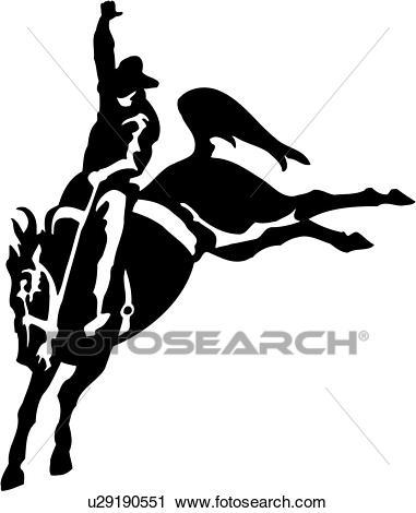 , animal, bronco, bucking bronco, cowboy, horse, rodeo, saddle bronc,  southwest, sport, western, Clipart.
