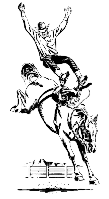 Free Bronc Rider Clipart.