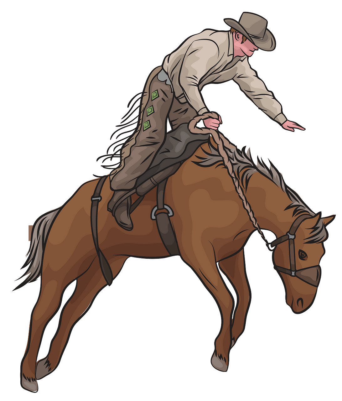 Bronc Riding Rodeo clipart. Free download..