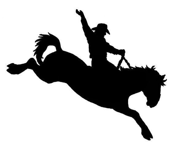 Cameo Bronc Riding Stencils Pattern Saddles Bronc Clips Art.