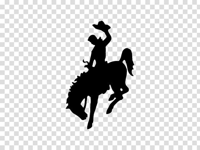 Man riding horse illustration, Wyoming Horse Bronc riding Bucking.