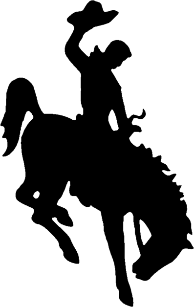 Fresh Bronc Rider Silhouette At Free For.