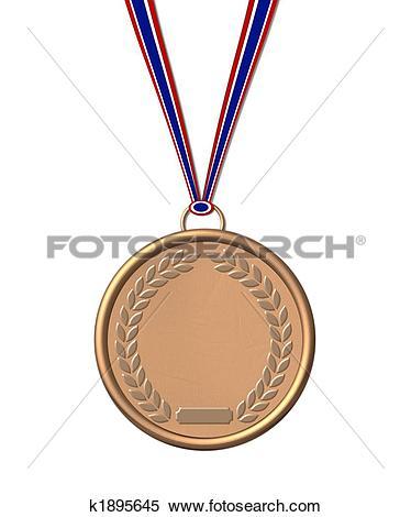 Stock Illustration of isolated bronze medal k1895645.