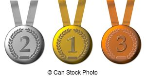 Silver and bronze winning medals Illustrations and Clipart. 554.