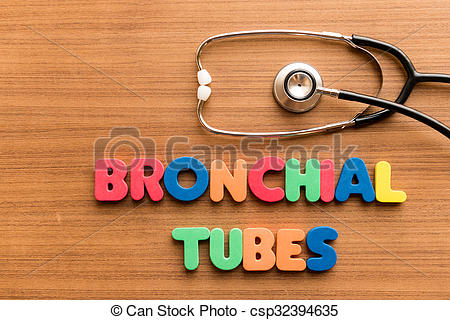 Stock Photos of bronchial tubes colorful word on the wooden.