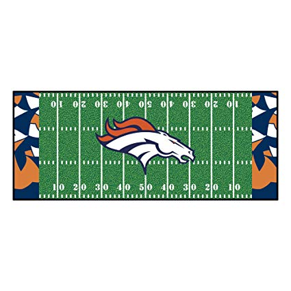 Amazon.com: NFL Denver Broncos Football Field Runner Mat Area Rug.