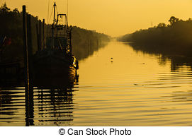 Stock Photography of Bronte harbor in Spring, Oakville, Ontario.