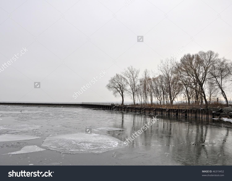 Bronte Beach Park Oakville Ontario, Winter Stock Photo 46319452.