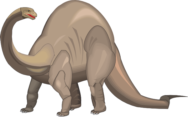 Free to Use & Public Domain Brontosaurus Clip Art.