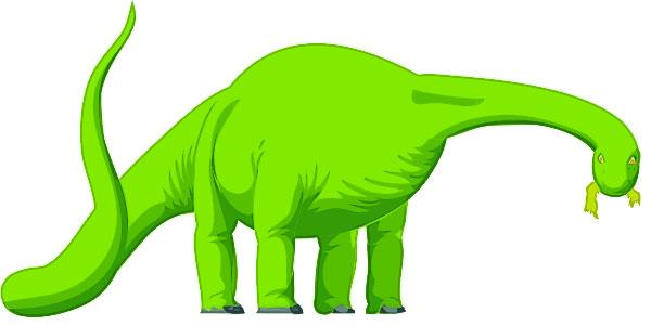 Apatosaurus (Brontosaurus) Clip Art.