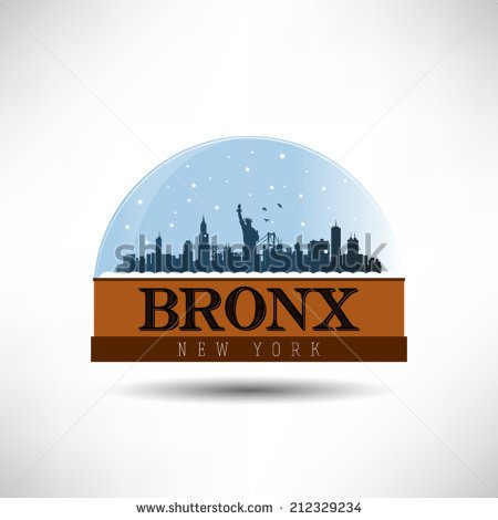 Bronx skyline silhouette clipart.
