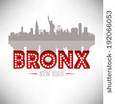 Bronx ClipArt, Vektorbild Bronx.
