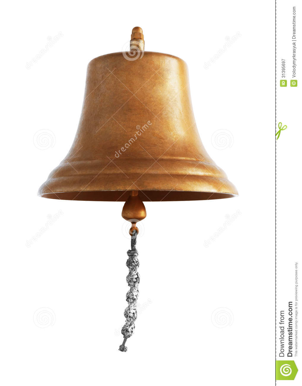 Antique Brass Ship's Bell Royalty Free Stock Photography.