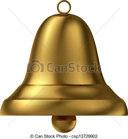 Vector Clipart of Golden bell.