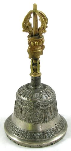 Antique chinese dragon bronze bell.