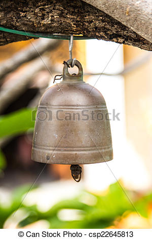 Stock Photography of bronze bell in buddhist temple csp22645813.