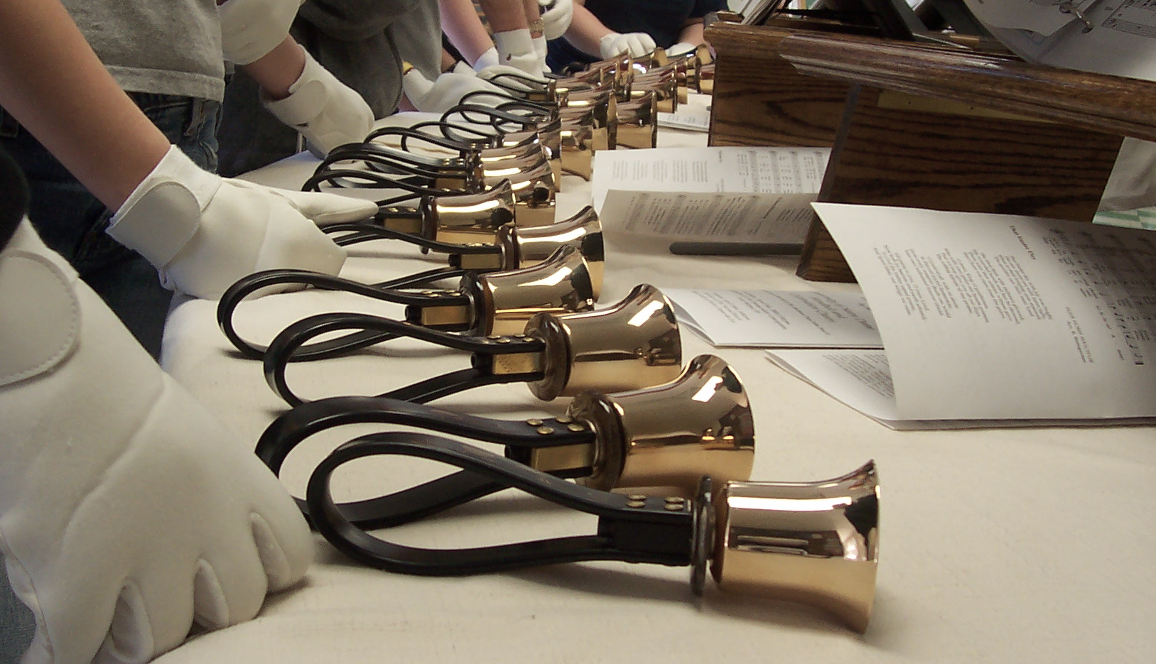 Clipart of christmas hand bell choir.