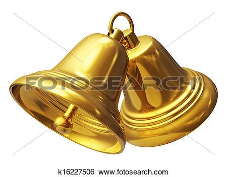 Stock Illustration of Golden Christmas bells k16227506.