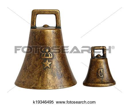 Stock Image of Old bronze bells k19346495.