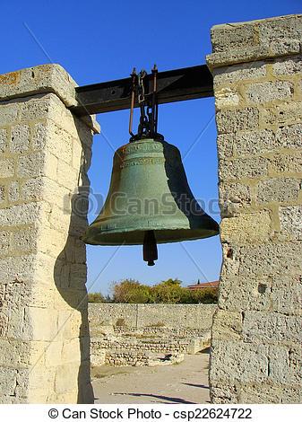 Stock Photo of Bronze bell in Chersonesos Taurica, Sevastopol.