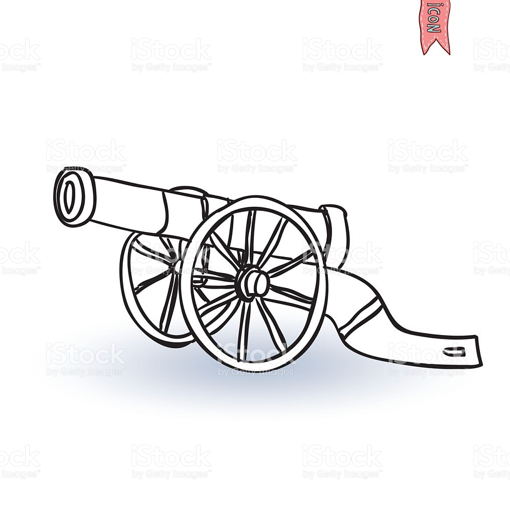 Ancient Cannon Vector Illustration stock vector art 535452227.