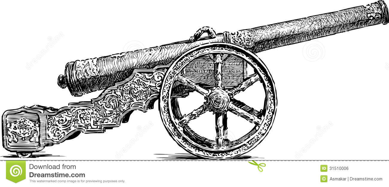 Ancient Cannon Royalty Free Stock Image.