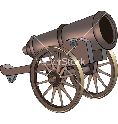 A video game object cannon vector by liusa.