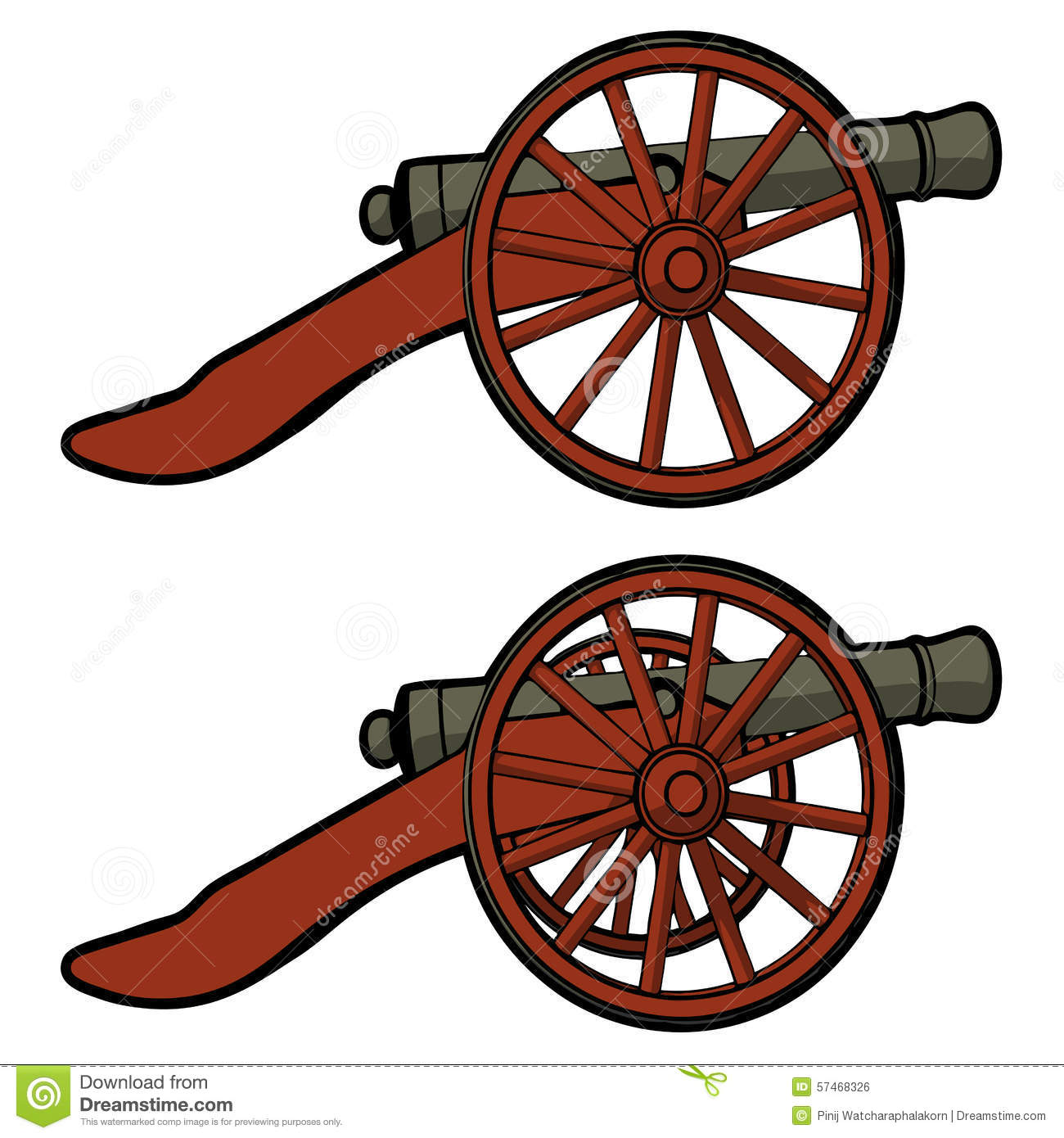 Ancient Cannon Vector 01 Royalty Free Stock Images.
