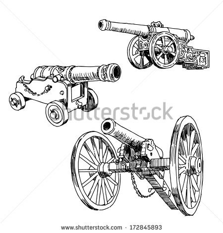 Old Cannon Stock Photos, Royalty.