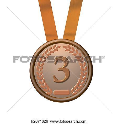 Stock Illustration of illustration of a bronze medal k2671626.
