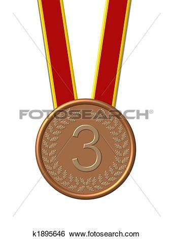 Stock Illustration of isolated bronze medal k1895646.