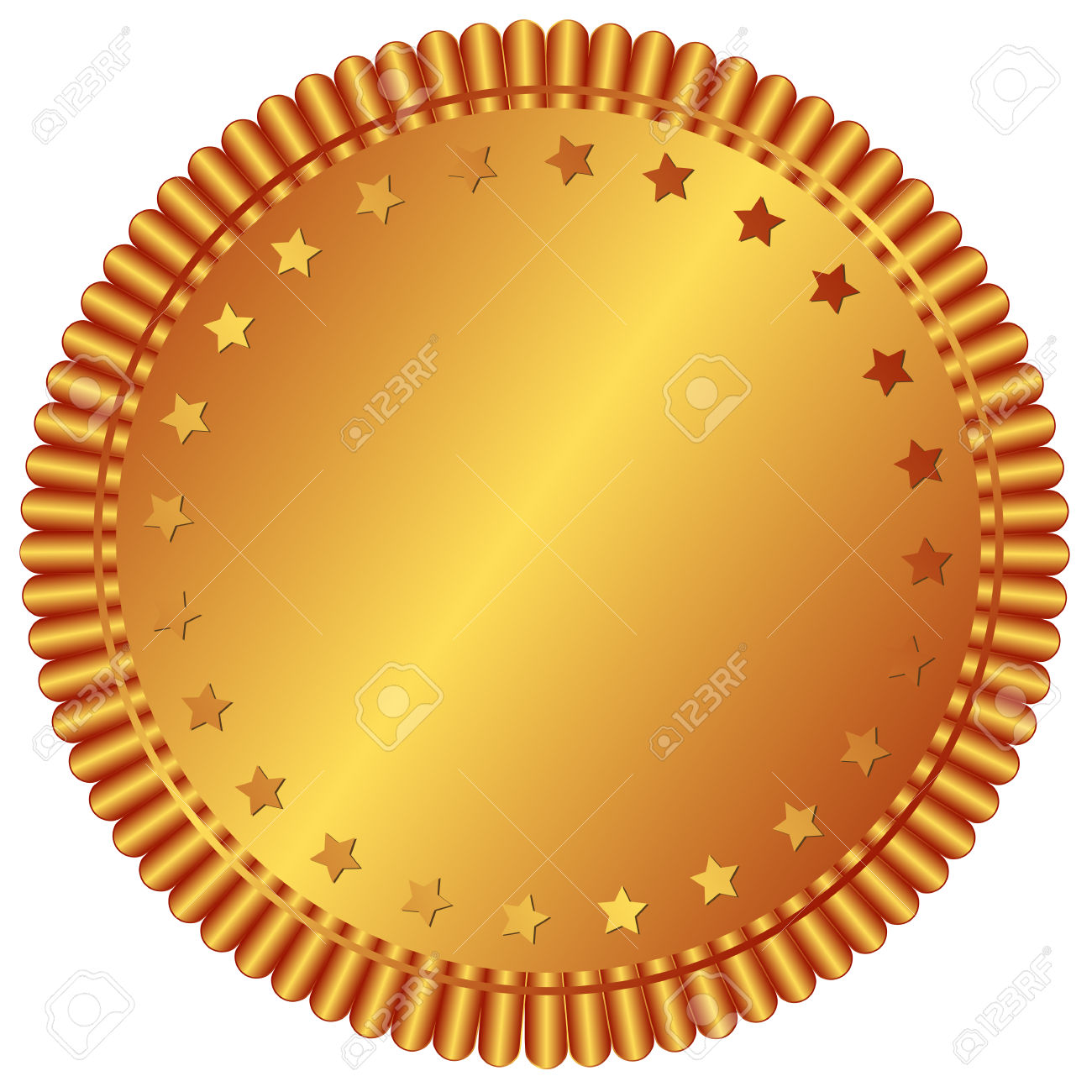 Bronze Plate With Stars (vector) Royalty Free Cliparts, Vectors.