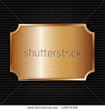 Bronze Plate Stock Vectors & Vector Clip Art.