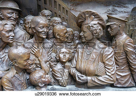 Stock Images of England, London, The Mall, Part of a bronze relief.