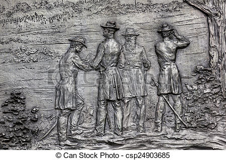 Pictures of General Sherman Bronze Bas Relief Battle of Atlanta.