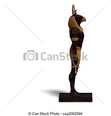 Drawing of horus statue.