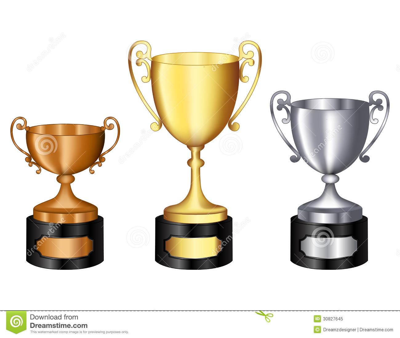 Bronze trophy clipart.