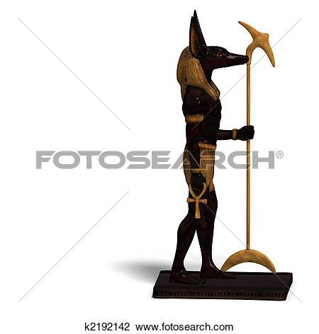 Clip Art of anubis statue k2192142.