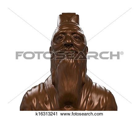 Clipart of Bronze Statue of Confucius k16313241.